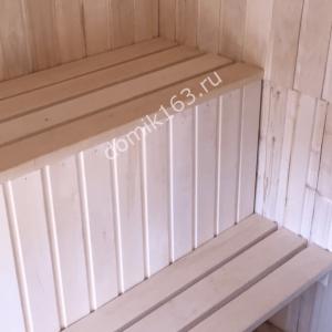 Баня внутри (скамья)