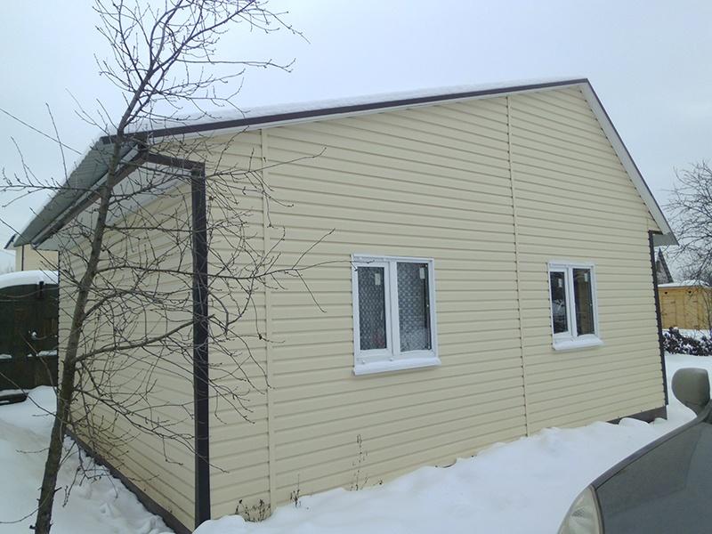 Дачный дом после ремонта.: фасад