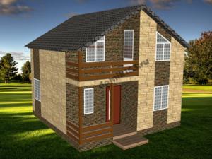 Проект каркасного дома «Анастасия»