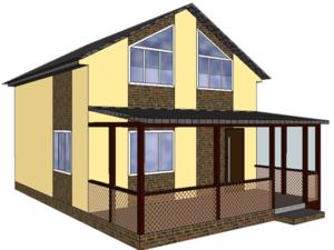 Проект каркасного дома «Слобода-1»