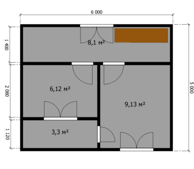 Планировка дома Акация