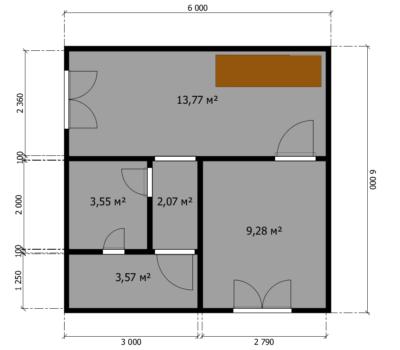 Планировка дома Анастасия