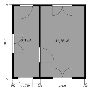 Планировка дома Фиеста-2