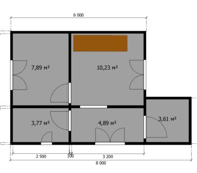 Планировка дома Леванте