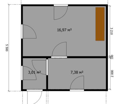 Планировка дома Малага