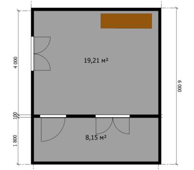 Планировка дома Малага-1