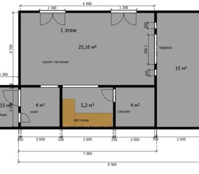 Планировка дома Слобода-1