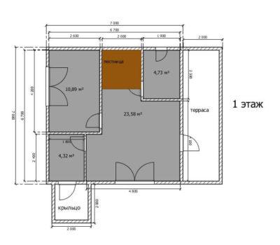 Планировка дома по проекту дома Ривьера-112 1 этаж