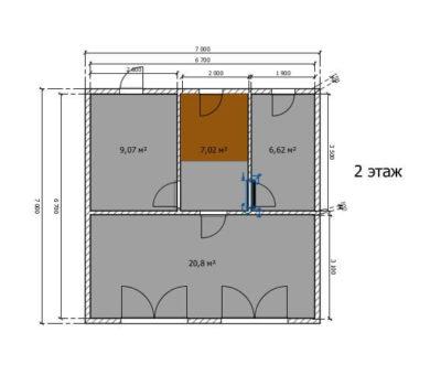 Планировка дома по проекту дома Ривьера-112 2 этаж