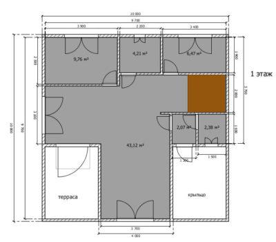 Планировка дома Ницца-146 1 этаж
