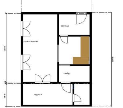 Планировка по проекту дома Астра-84 1 этаж