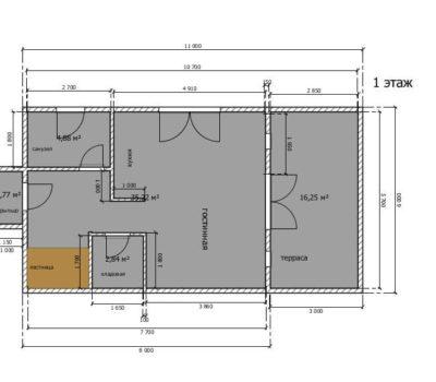 Планировка по проекту Альфа-114 1 этаж