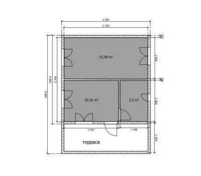 Планировка дома по проекту Аврора