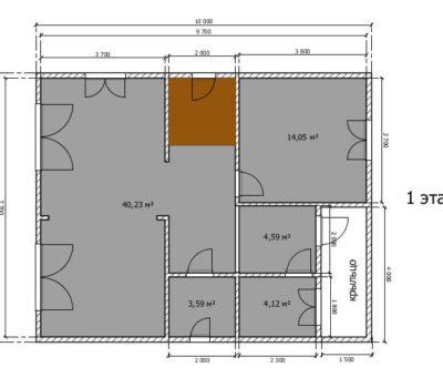 Планировка дома по проекту Мальта-160 1 этаж