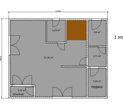 Планировка дома по проекту Монако-144 1 этаж