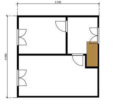 Планировка по проекту дома Астра-84 2этаж