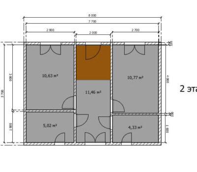 Планировка дома Венеция-108 2 этаж