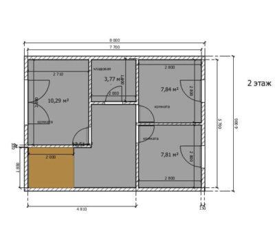 Планировка по проекту Альфа-114 2 этаж