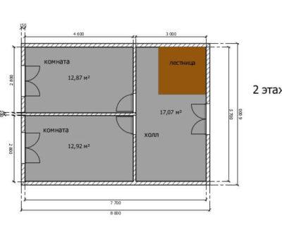 Планировка дома по проекту Атлант-120 2 этаж