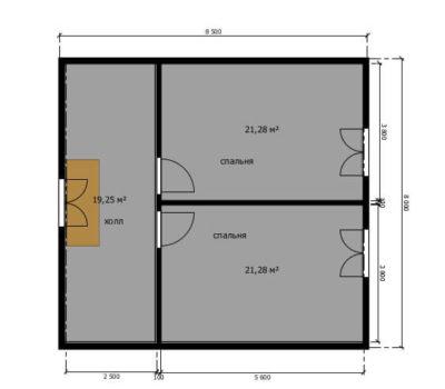 Планировка дома по проекту Сельта-136 2 этаж