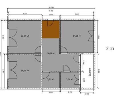 Планировка дома по проекту Мальта-160 2 этаж