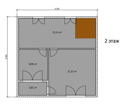 Планировка дома по проекту Монако-144 2 этаж