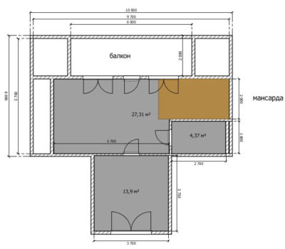 Планировка дома Ницца-146 2 этаж